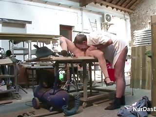 Fledgling German mature railing willy of electrified welder pornvideo