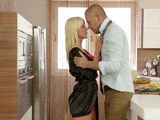 Stunning blond milf Tiffany Rousso gives her head and gets fucked
