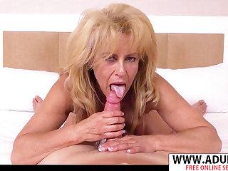 Lustful GILF Candy porn video