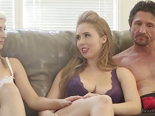 Ardent nympho Kristen Scott and some more kinky porn starts during interview