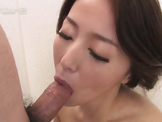 Japanese Mature Sucks Cock in Shower (Uncensored JAV)