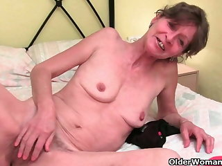 British granny with hairy pussy needs orgasm