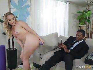 MILF yoga babe AJ Applegate filled with a huge black dick