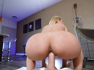 Porn doll treats herself with a long dick