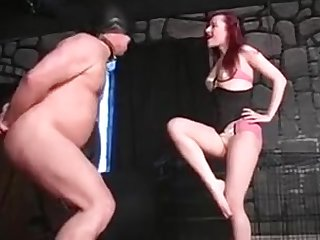 Extreme Femdom Dominatrix Bizarre Cock And Balls Busting
