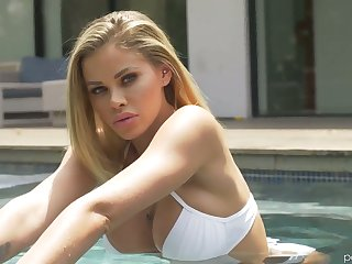 Leggy tall temptress Jessa Rhodes is making love in the shower and in the bed room
