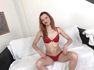 Sexy redhead milf fucked hard by big guy with big cock
