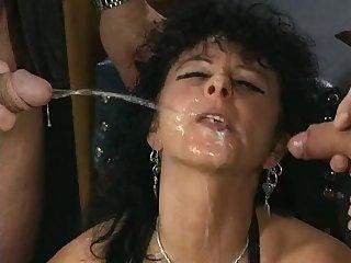 Kinky old german sluts pissing gangbang porn video