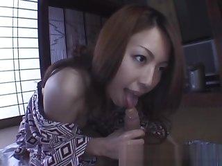 Tomoe Hinatsu Horny Milf enjoys Cock part6