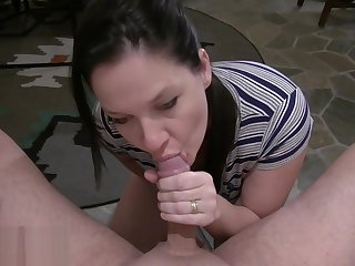 Black Hair Blue Eyes Busty Wife Anal Riding Cock Worship And Swallow-1080HD