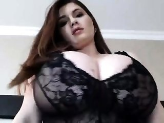Busty BBW Wearing Lingerie