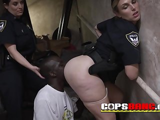 Desiring cops love blowing roughly this BIG BLACK COCK suspect