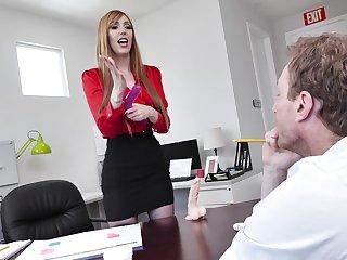 hot secretary Lauren Phillips adores sex with her colleague in her office