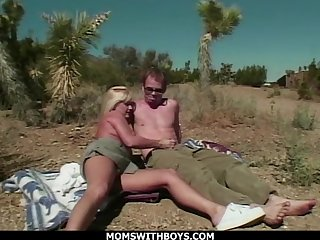 MILF Blonde Outdoor Desert Sex With fr