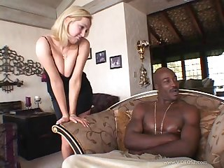 Her tight rectum will have to handle a big black cock