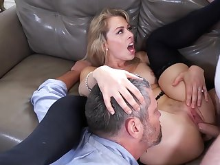 Mind blowing cuckold shag on the couch with Zoey Monroe