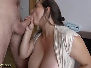 German female is providing awesome titjobs to her folks, and loving every single 2nd of it