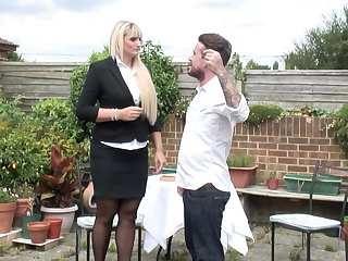 Lucy B. gets her big ass pounded outdoors in high heels