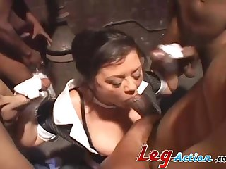 Milf taking monster cock hardcore in interracial porn