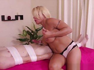 Blonde Masseuse Loves To Dominate