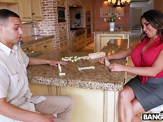 Impressively curvy tanned MILF desires to be fucked really properly by stud