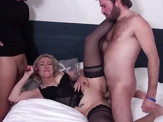 French mom prostitute make love double shag hard