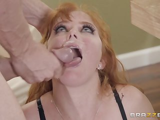Redhead blue eyed MILF Penny Pax wants her mouth cum filled