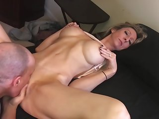XXX Lonely Housewife Seduces Brother-in-Law -- HUGE COCK, Creampie, Gagging