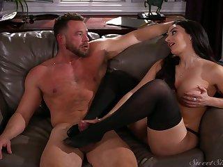 Marvelous bosomy black head Sheena Ryder is so into riding fat cock