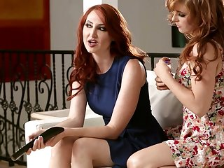 Two red haired lesbian babes can't stop eating each others fresh looking pussies