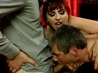 Bisexual Cuckold Threesome With Kinky Redhead