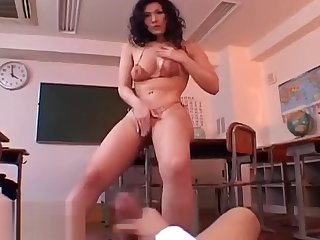 Japanese sensual teacher turns crazy her student