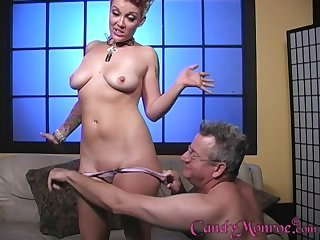 Candy Monroe fucks with a black guy in front of her husband