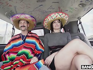 Horny party in Mexican style with big breasted whorish Becky Bandini