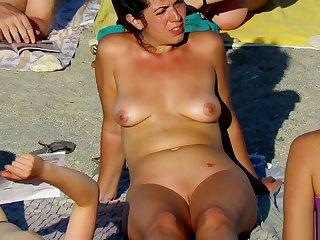 Hot Voyeur Amateur MILFs - Nudist Beach Spy Video
