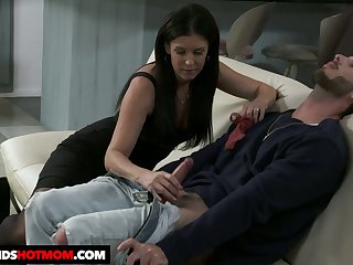 Dark haired sweetheart India Summer rides dick like a great expert